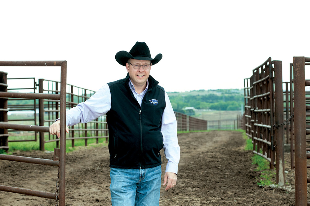 Dr. Bob Weaber at the Beef Stocker Unit